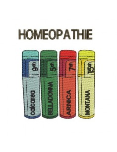Instant download machine embroidery homeopathy