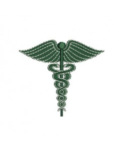 Instant download machine embroidery caduceus