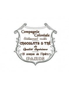 Instant download machine embroidery advertising plate of chocolate