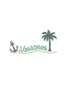 Instant download machine embroidery palm