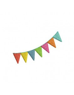 Instant download machine embroidery garland of flags