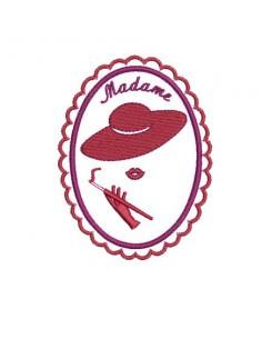 Motif de broderie camée Madame