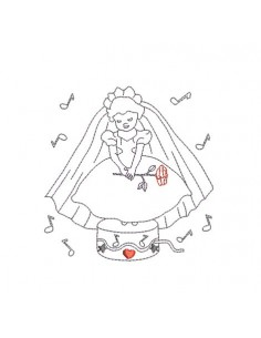 Instant download machine embroidery  a music box