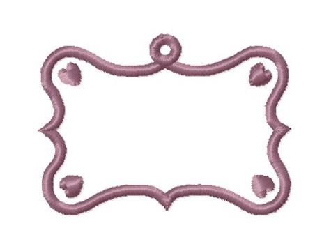 Etiquette  baroque  coeur anneau