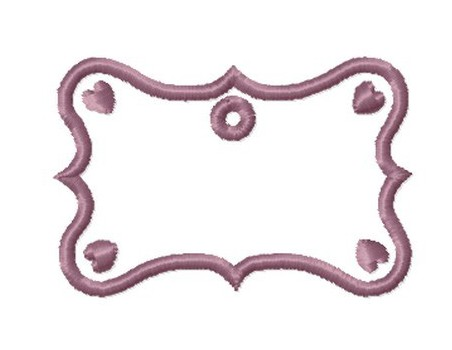 Etiquette  baroque coeur