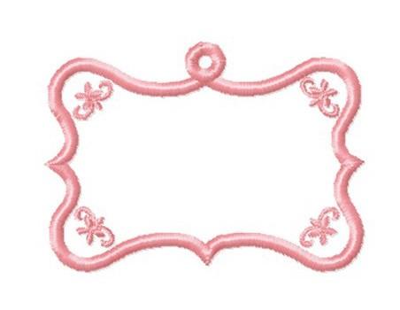 Etiquette  baroque  volute anneau