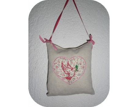 Instant download machine embroidery dove of peace
