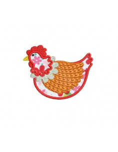 Instant download machine embroidery  hen