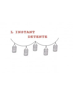 Instant download machine embroidery garland of lanterns