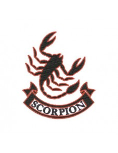 Instant download machine embroidery scorpion