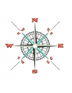 Instant download machine embroidery compass