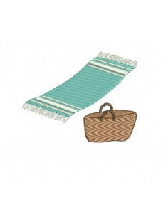 Instant download machine embroidery fouta