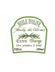 Motif de broderie machine  huile d'olive
