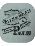 Instant download machine embroidery vintage advertising major stores Paris