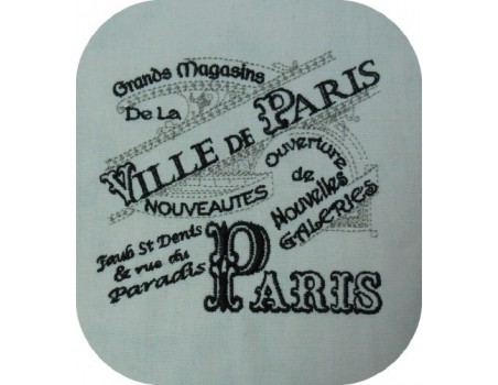 Instant download machine embroidery vintage advertising major stores Paris