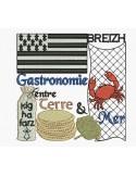 Motif de broderie machine gastronomie Bretagne