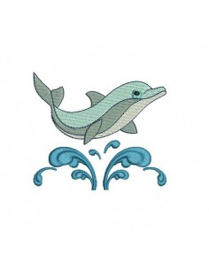 Instant download machine embroidery dolphin