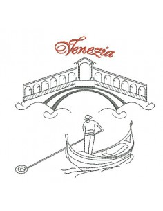 Instant download machine embroidery Venice