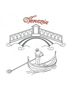 Motif de broderie machine Venise