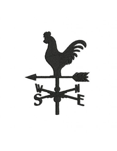 Instant download machine embroidery rooster weathervane