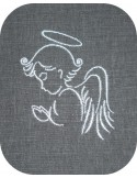 Motif de broderie machine angelot