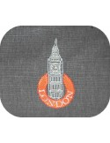 Instant download machine embroidery LONDON