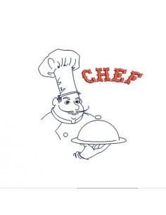 Motif de broderie machine chef cuisinier
