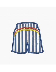 Instant download machine embroidery beach shorts