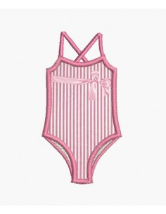 Instant download machine  ONE-PIECE LINED SWIMSUIT SWIMMING SUIT GIRL'S