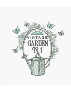 Instant download machine embroidery vintage garden