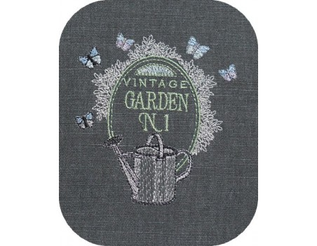 Motif de broderie machine jardin