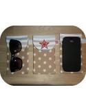 Motif de broderie machine ITH étui à lunettes ou grand téléphone