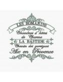 Motif de broderie machine Bastide les romarins