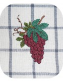 Motif de broderie machine grappe de raisins