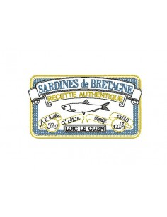 Motif de broderie machine boite de sardines