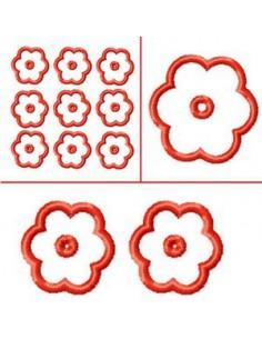 Attache fleur  3 formats