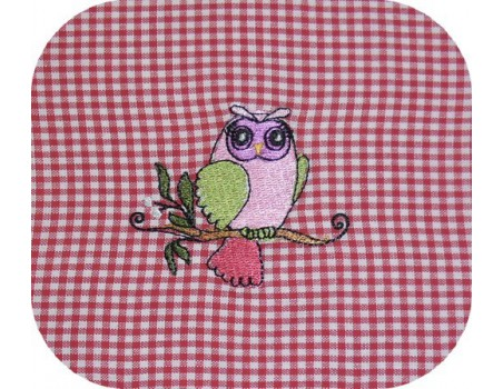 Instant download machine embroidery owl