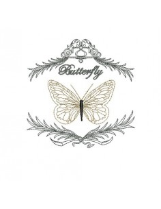 Instant download machine embroidery butterfly