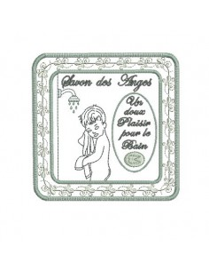 Instant download machine embroidery soap frame Angels