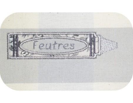 Motif de broderie machine crayon appliqué