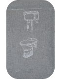 Instant download machine embroidery vintage wc