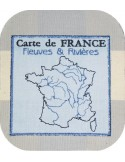Motif de broderie machine carte de france