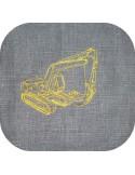 Motif de broderie machine pelle mécanique hydraulique