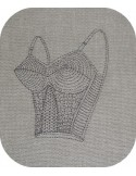 Instant download machine embroidery designer corset