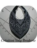 Instant download machine embroidery bandana bib