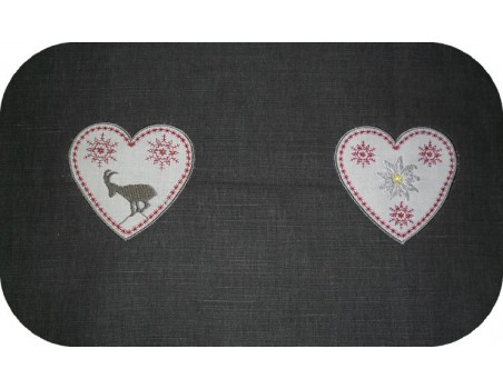 Instant download machine embroidery heart of mountain goat