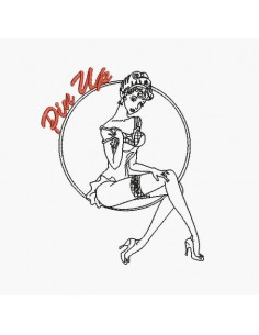 Instant download machine embroidery pin up