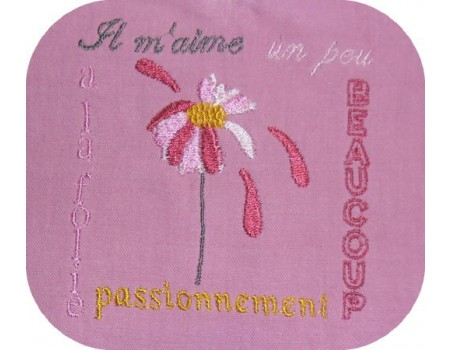 Instant download machine embroidery daisy flower
