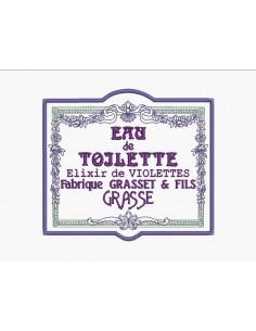 Motif de broderie machine cadre fleurs publicité eau de toilette