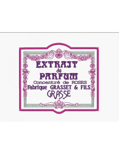Instant download machine embroidery flowers frame advertising cologne